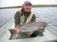 Andrea's 9lb 12oz sea trout Fada
